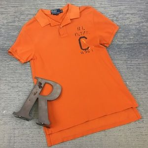 Polo orange short sleeve polo shirt